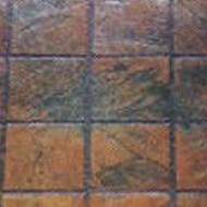 6x6 Grouted Slate Tile Mat - M46