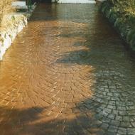 Residential Driveway - Fan Pattern