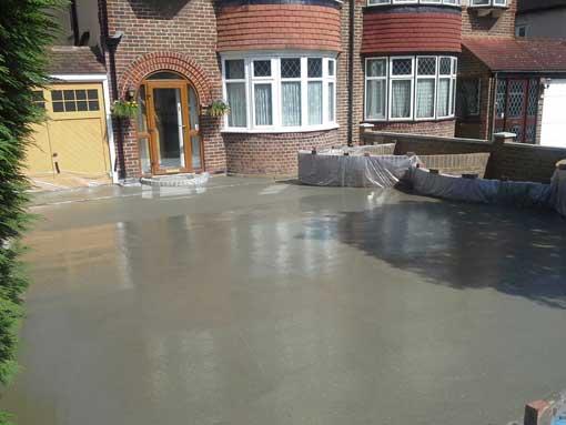 Mrs. D's Driveway Concrete Laid